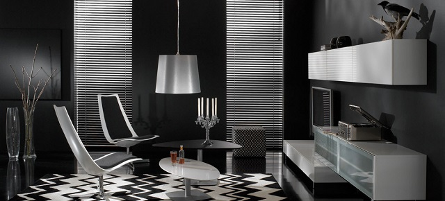 black bedroom Black bedroom: Create a dramatic and beautiful space Luxurious Black Living Room With Modern Furniture