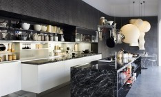 """Kitchen trends for 2014:what to expect in home design"" Kitchen trends Kitchen trends for 2014: what to expect in home design Black marble kitchen island design1 234x141"