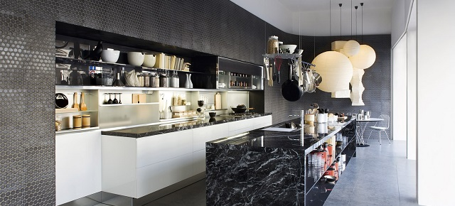"""Kitchen trends for 2014:what to expect in home design"" Kitchen trends Kitchen trends for 2014: what to expect in home design Black marble kitchen island design1"