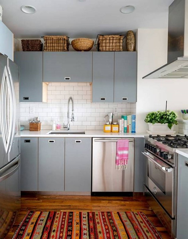 cabinets - small kitchen design small kitchen How to decorate a small  kitchen grey cabinets decorative