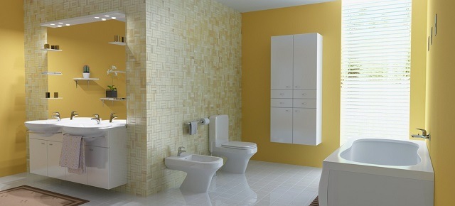 bathroom ideas Easy bathroom ideas: create an amazing space stunning pretty yellow bathroom interior design ideas1