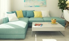 """A small apartment that you will love"" small apartment design A small apartment design that you will love 5 Blue sofa1 234x141"