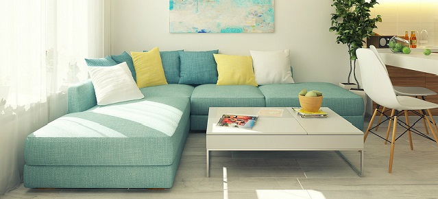 """A small apartment that you will love"" small apartment design A small apartment design that you will love 5 Blue sofa1"