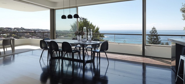 beach houses Outstanding beach houses you want to see Dining Space with Beach View in Big Balcony House for Young Family by Luigi Rosselli Architects1