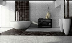 white interiors Spectacular black and white interiors black and white modern bathroom1 234x141