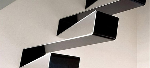 staircase designs Beautiful and unusual staircase designs black white rippling ribbon staircase