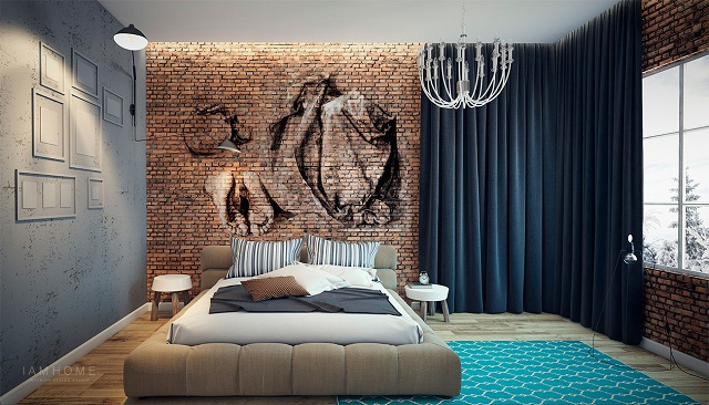 Take a look at this perfect small apartment New York Design Best New York design hotels 10 Wall mural