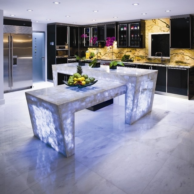 """""""The most stylish kitchen countertops that you've ever seen"""" stylish kitchen The most stylish kitchen countertops that you've ever seen 6 Backlit kitchen countertop"""