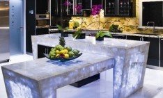 stylish kitchen The most stylish kitchen countertops that you've ever seen 6 Backlit kitchen countertop1 234x141