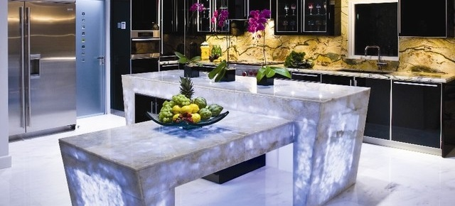 stylish kitchen The most stylish kitchen countertops that you've ever seen 6 Backlit kitchen countertop1