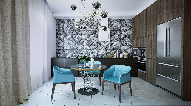 Take a look at this perfect small apartment small apartment The perfect example of a stylish small apartment 6 Contemporary dining suite