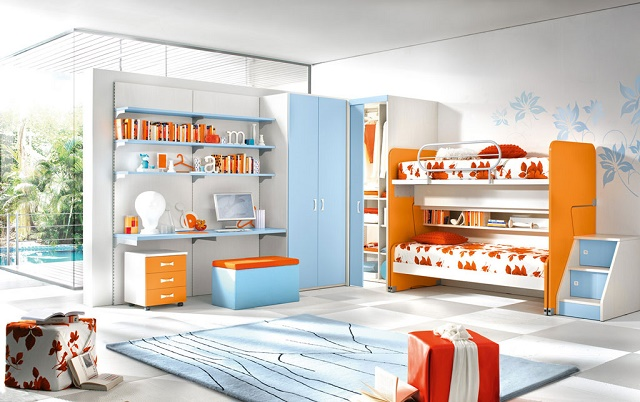 """The best tips to decorate your kid's room"" kid's room The best tips to decor your kid's room stylish kids room idea with bunk beds"