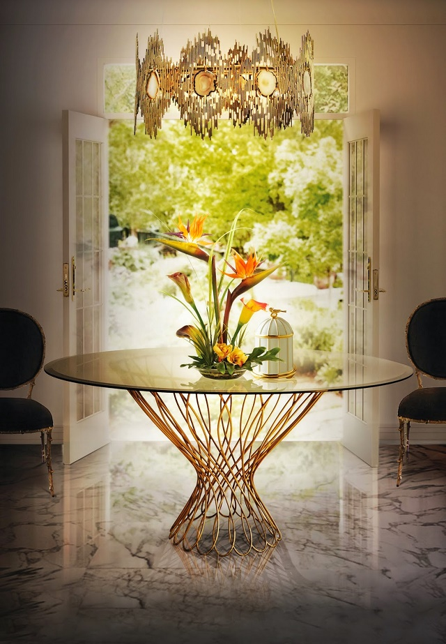 vivre-chandelier-allure-dining-table-enchanted-chair-koket-projects interior design project