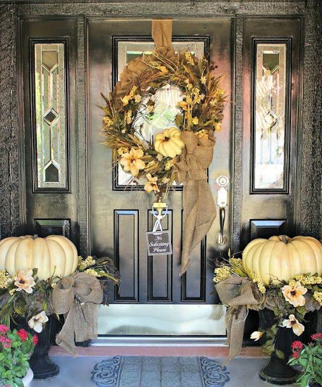 halloween The best 20 front door decors for halloween 14