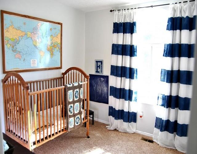 NAVY BLUE & WHITE Baby Room