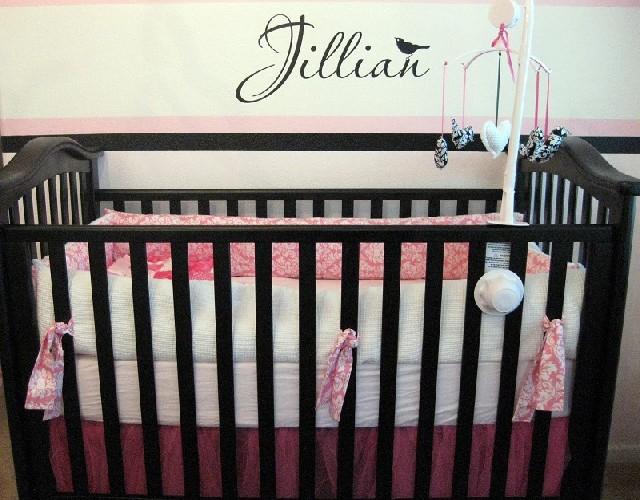 PINK & BLACK Baby Room