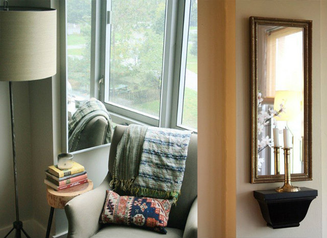 Create another window by placing a mirror next to or across from the real deal SMALL SPACES, HOME DESIGN IDEAS: 3 TIPS TO USE MIRRORS IN SMALL SPACES Mirrors In Small Spaces designinvogue interior design decorating 6