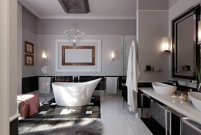 Groovy Bathroom Chandeliers Home Design Ideas Largest Home Design Picture Inspirations Pitcheantrous