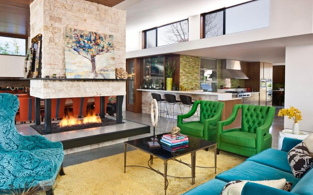 Jennifer-Dyer_Brack-Residence_Living-Fireplace.jpg.rend.hgtvcom.1280.853  Interior design: Eclectic Style Jennifer Dyer Brack Residence Living Fireplace