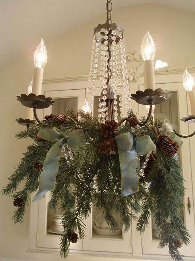 Home Brunch Christmas Decor Vintage Chandelier