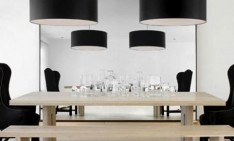 furniture Learn how to mix contemporary lighting and furniture dining chairs black modern light pendant room idea 234x141