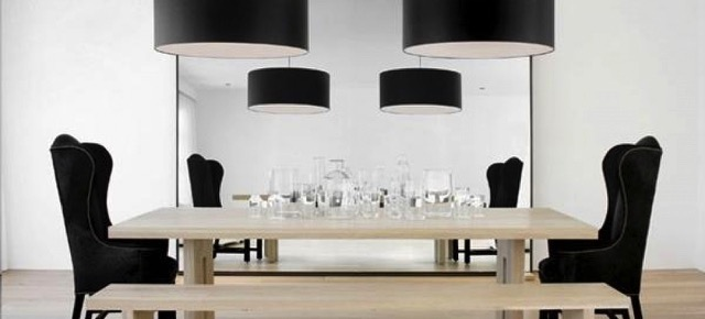 furniture Learn how to mix contemporary lighting and furniture dining chairs black modern light pendant room idea