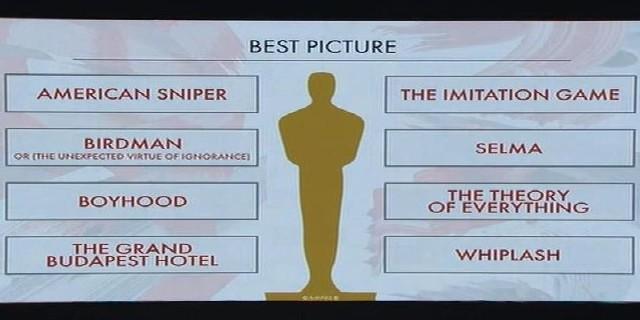 87th Academy Award Nominations 2015 Oscars 2
