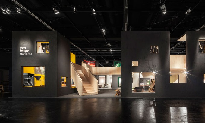'das haus' challenge at imm cologne 2015: Neri&hu architects and Dinesen imm nerihu das haus feat