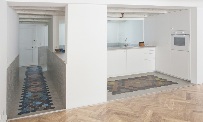 Take a look at this 'geneva apartment' by bureau A Bureau A Suiss apartment feat