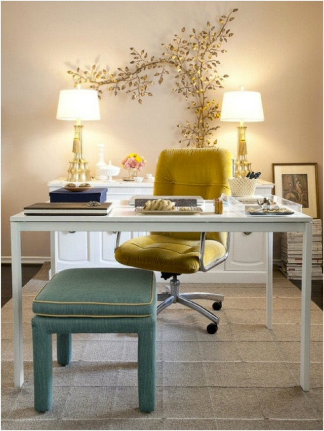 Modern And Feminine Design Ideas For Your Home Office