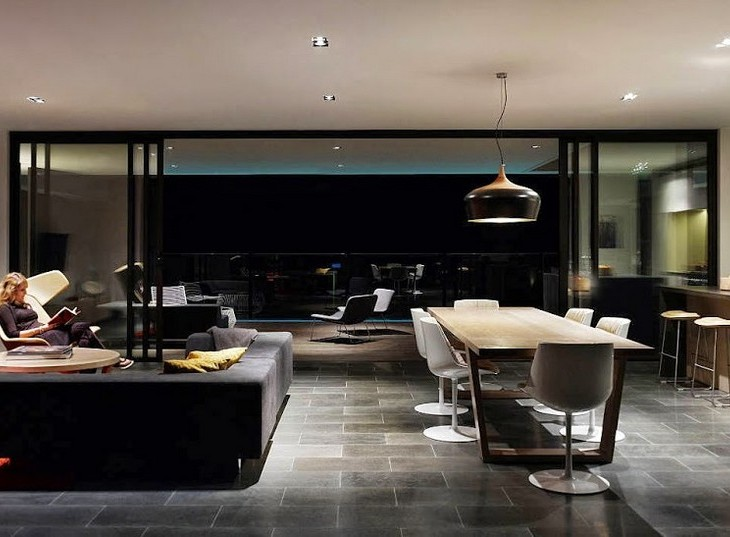 Modern suspesion lighting- black is always in our mind! fPdecor A G House 05 730x537