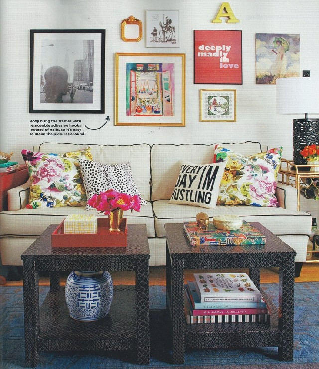living rooms patterned pillows 2
