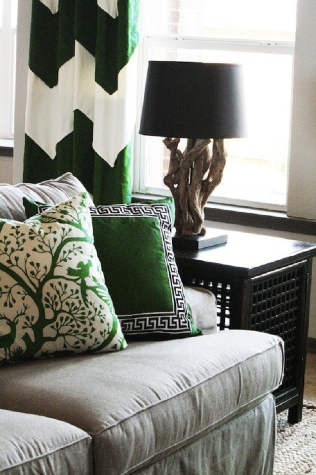 living rooms patterned pillows 8
