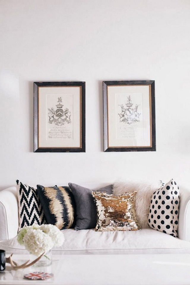 living rooms patterned pillows 9