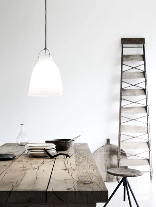 minimalistic dining rooms industrial ceiling lamps