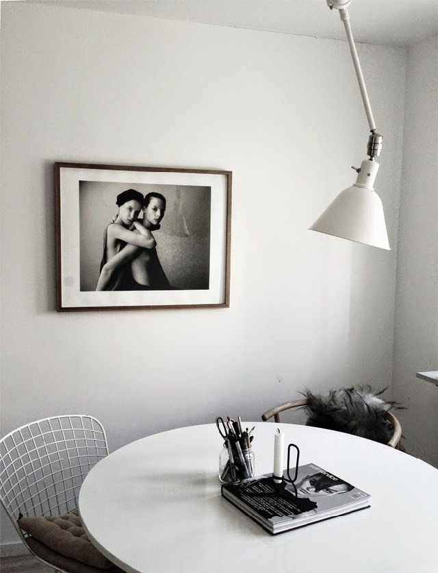 minimalistic dining roomss go vintage scandinavian fur