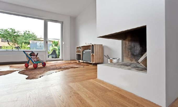 Living room ConcreteMania Urban Forester House by modelina