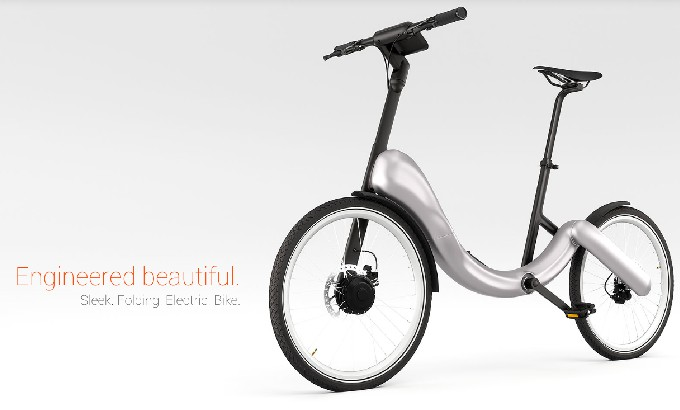 Folding, chainless, electric JIVR bike  Folding chainless electric JIVR bike feat