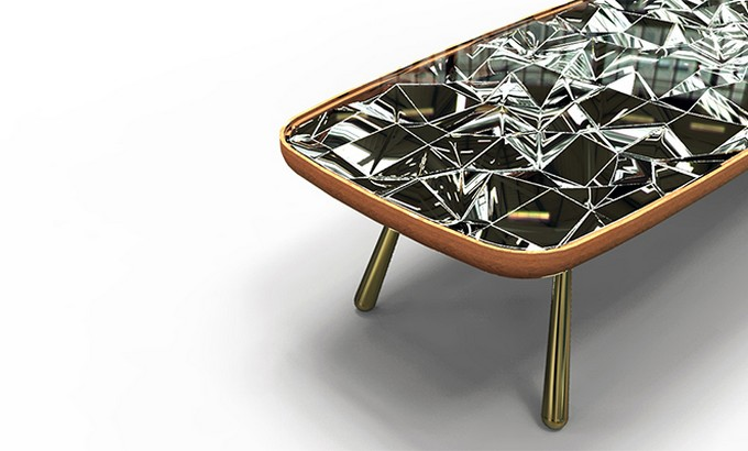 Andre teoman studio Andre teoman studio: amazing mirrored kaleidoscope table Andr   teoman studio mirrored kaleidoscope table featured