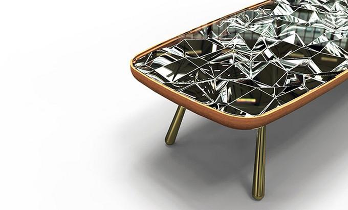 Andre teoman studio Andre teoman studio: amazing mirrored kaleidoscope table Andr   teoman studio mirrored kaleidoscope table featured