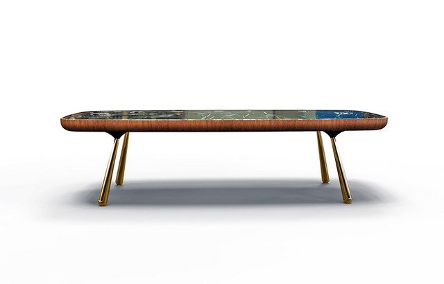 Andre teoman studio: amazing mirrored kaleidoscope table