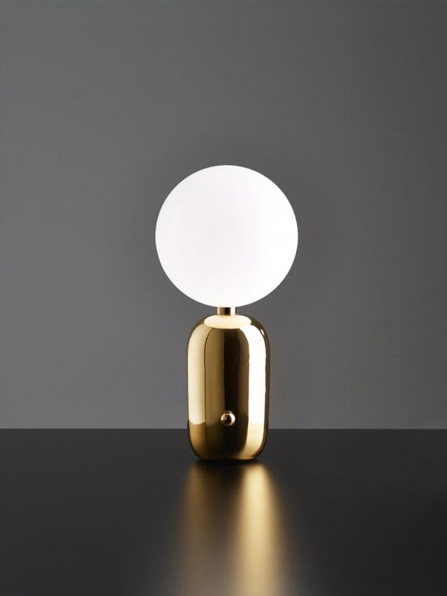 Aballs table lamp by Spanish designer Jaime Hayón 640 LIVING ROOM DESIGN IDEAS LIVING ROOM DESIGN IDEAS: 50 GOLD LAMPS Aballs table lamp by Spanish designer Jaime Hay  n 640