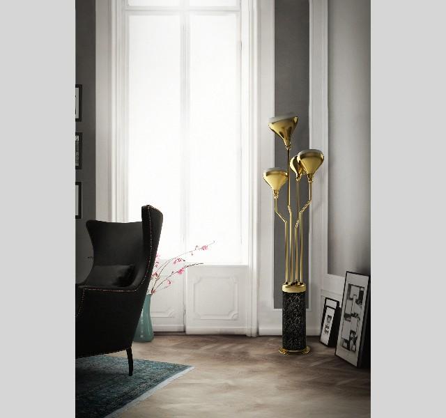 Gold lamps floor delightfull hanna LIVING ROOM DESIGN IDEAS LIVING ROOM DESIGN IDEAS: 50 GOLD LAMPS Gold lamps floor delightfull hanna