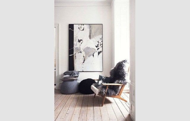 Living room design ideas 50 inspirational white armchair with fur and wood