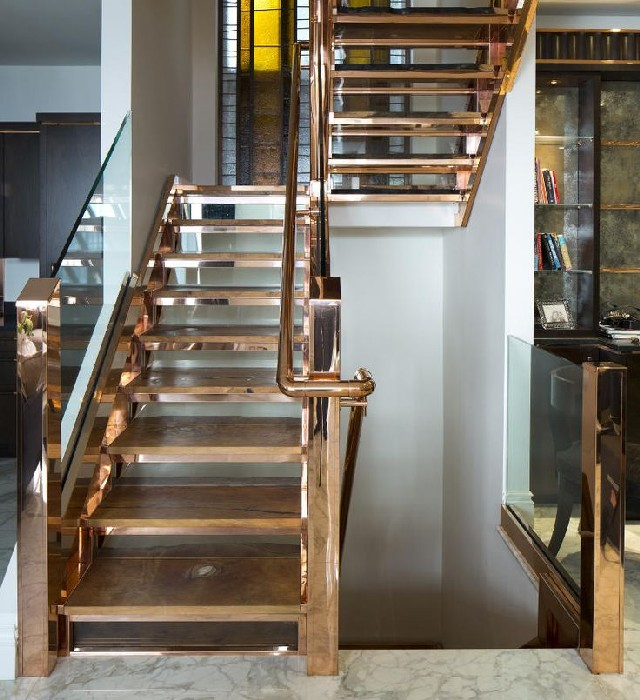 60 Lifestyle Home Design Ideas Copper Madness: Now We Return To Copper Metal Staircases This Time