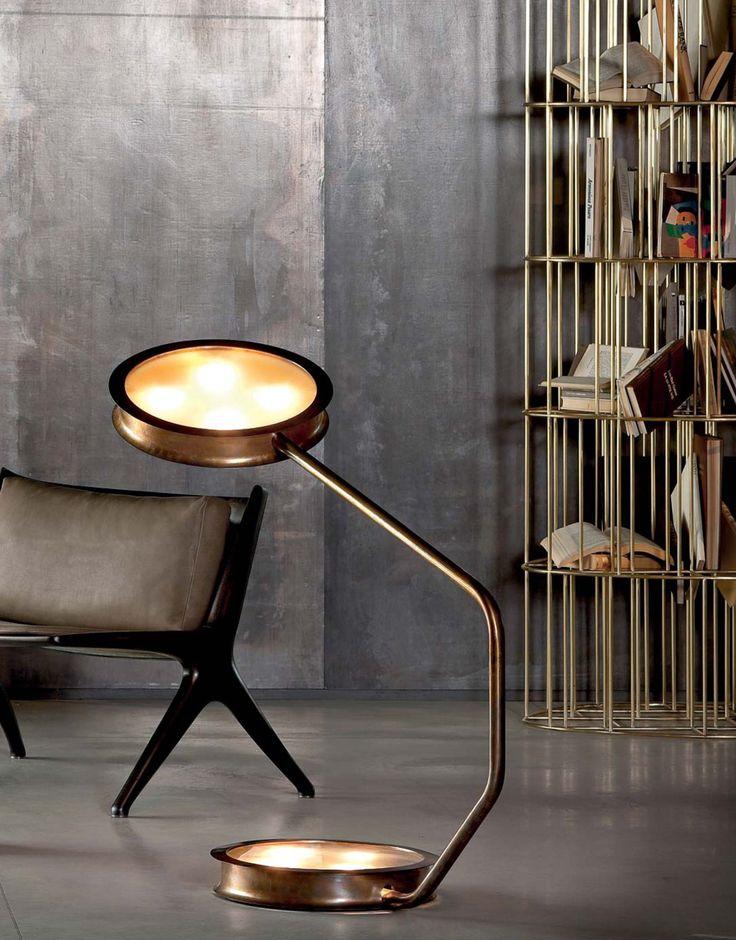 gold lamp After Glow - Vincenzo de Cotiis LIVING ROOM DESIGN IDEAS LIVING ROOM DESIGN IDEAS: 50 GOLD LAMPS gold lamp After Glow Vincenzo de Cotiis