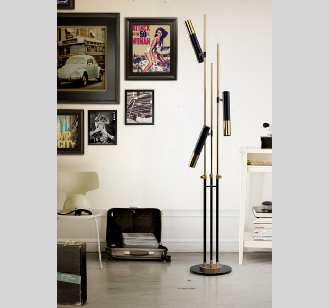 ike floor LIVING ROOM DESIGN IDEAS LIVING ROOM DESIGN IDEAS: 50 GOLD LAMPS ike floor