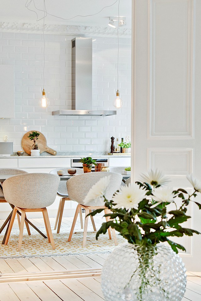 Great spaces in Gothenburg 10 amazing design ideas for your modern home: white kitchens