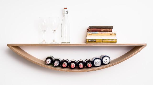 colorful design ideas beige smile shelf by lozi