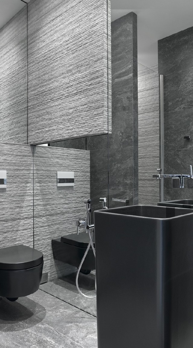 the-modern-bathroom-3 Modern Apartment with mid century details